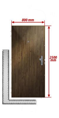 Turbo Zuschlag für außergewöhnliche Höhe der Tür bis max. Höhe 250cm DJ63