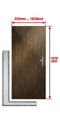 Beliebt Zuschlag für außergewöhnliche Türbreite (Höhe der Tür standard) - ADLO NW19